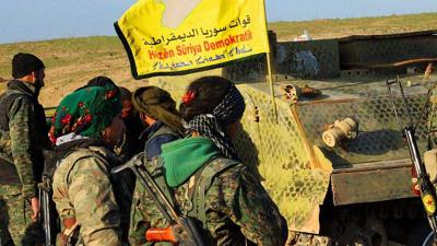 Syrian Kurdish YPR fighters