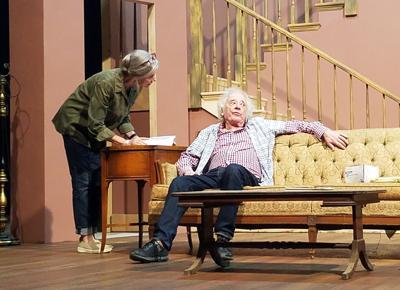 "Anne McEvoy as Blanch and Austin Pendleton as Ben in ""Broadway Bound"""