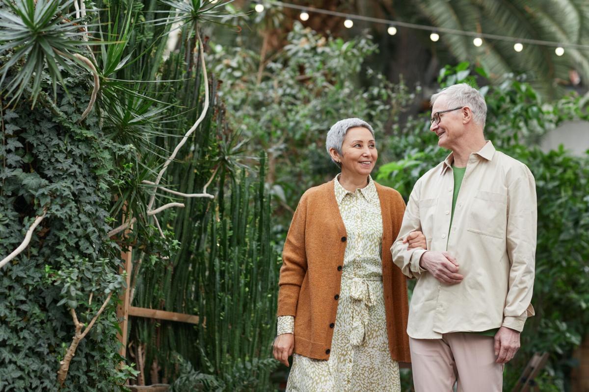 Stock senior couple