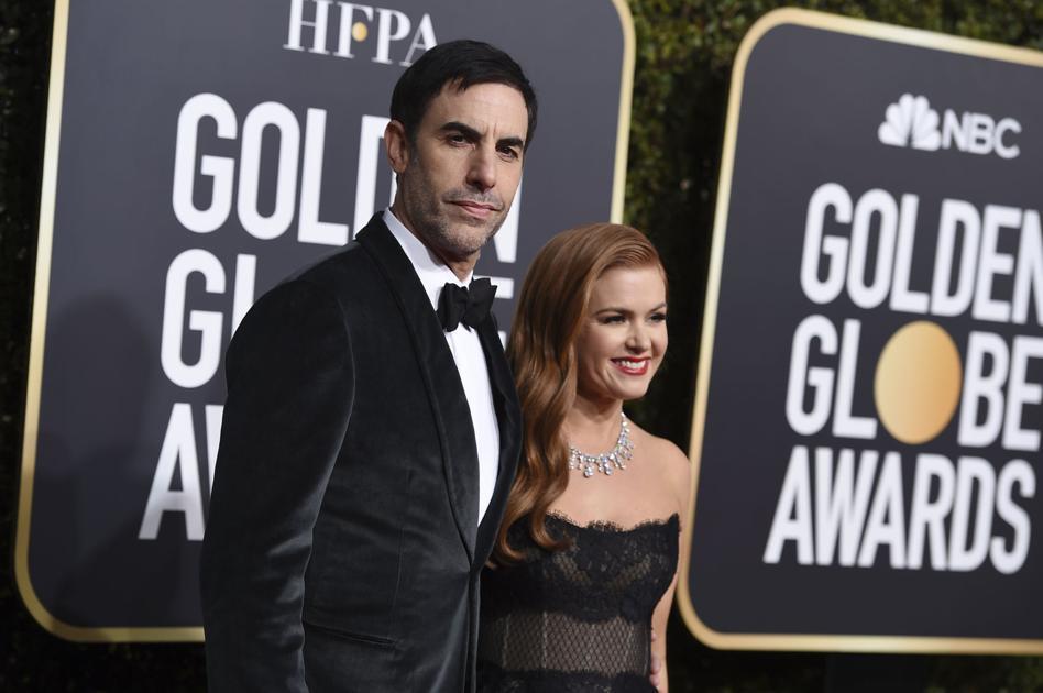Sacha Baron Cohen Brings Wife Isla Fisher As Golden Globes Date