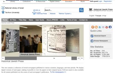 JPress-Historical Jewish Press website