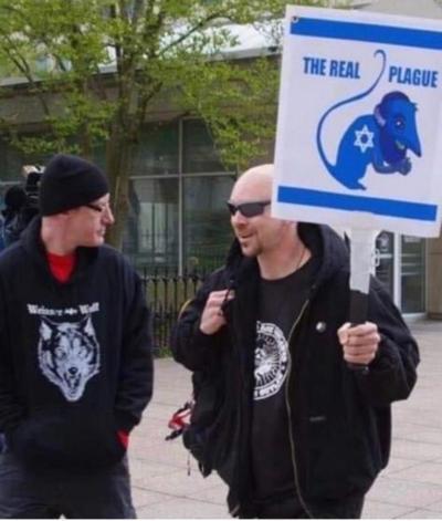 anti-Semitic sign