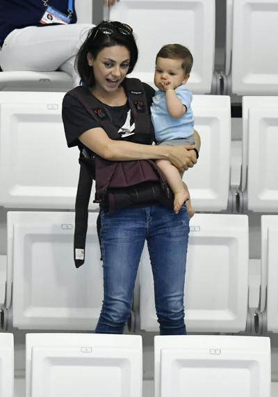 Mila Kunis and kid