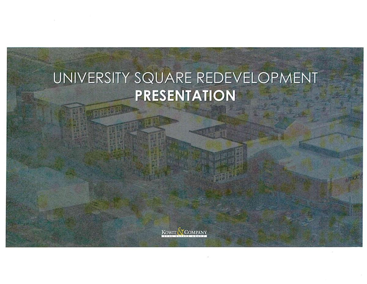 Drawings for plans for University Square