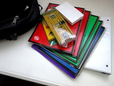 stock school supplies