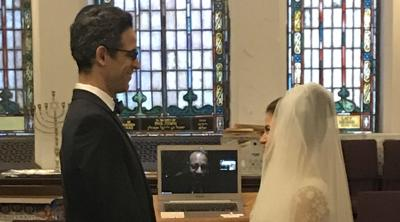 On Sunday, the rabbi logged on to Zoom: A bride and groom were waiting
