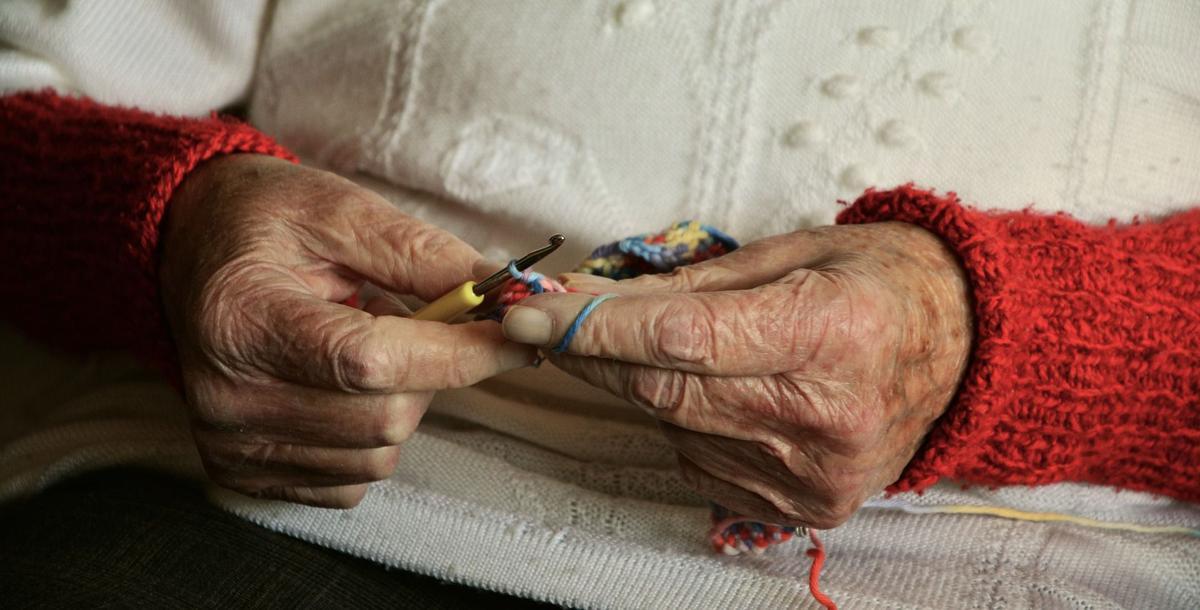stock senior knitting