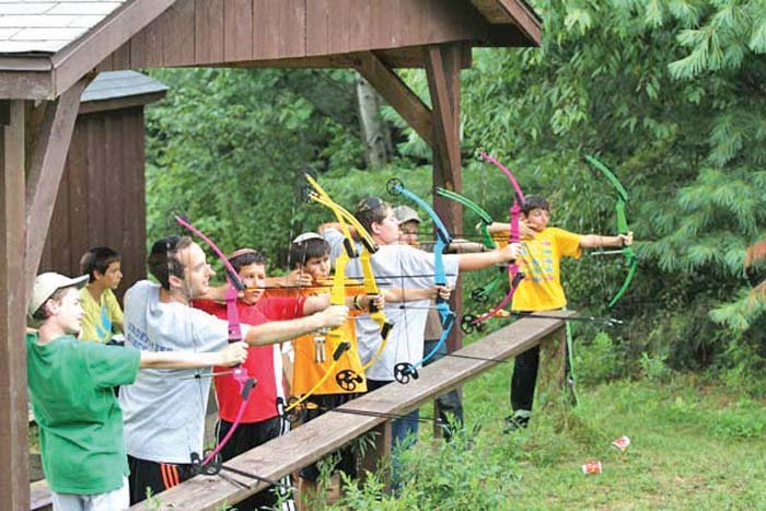 Archery is one activity at Camp Stone.