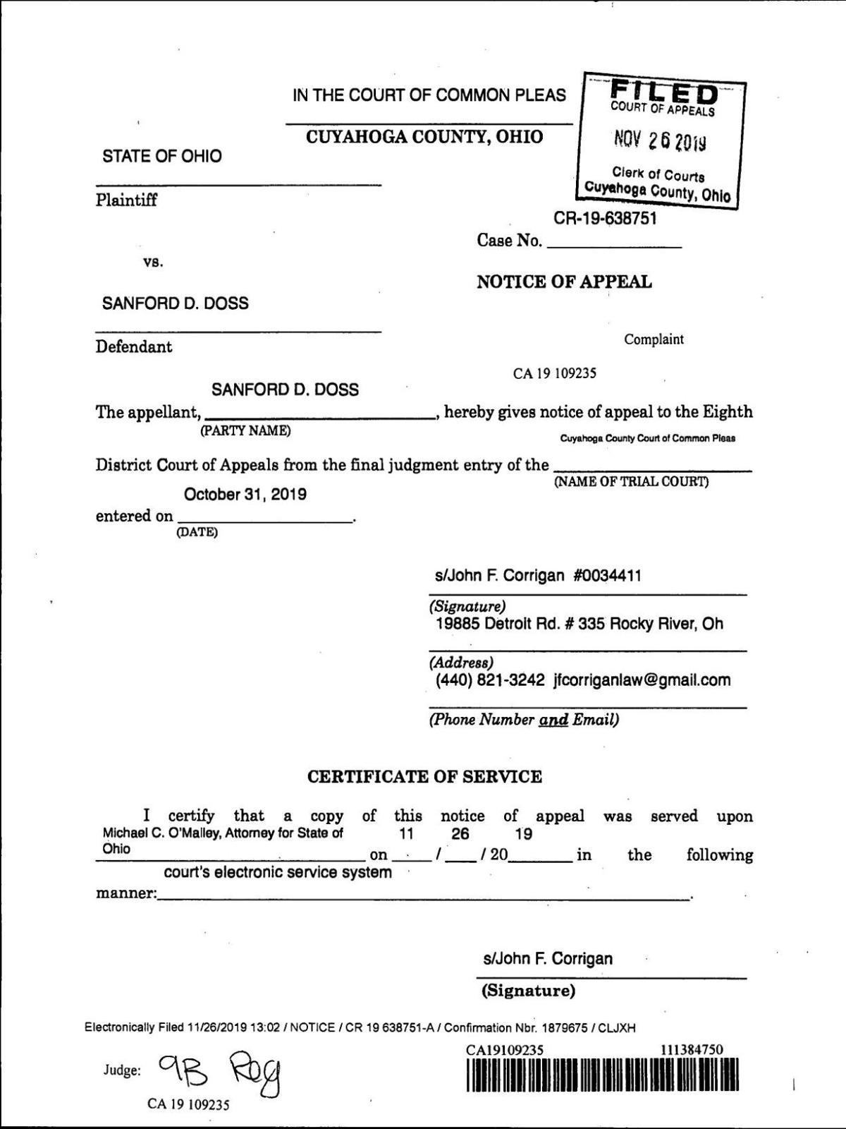 Sanford Doss appeal