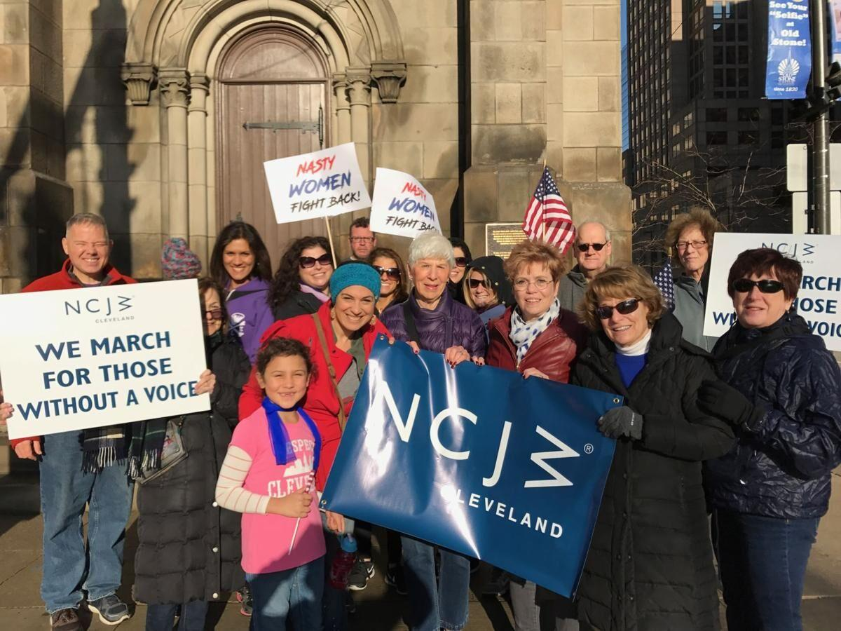 Gail Sands center right, with Womens March supporters.jpg