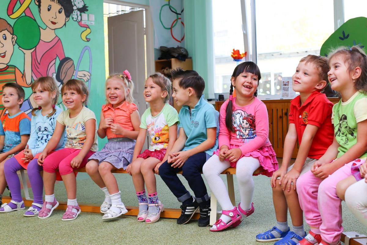 stock kindergarten school children kids