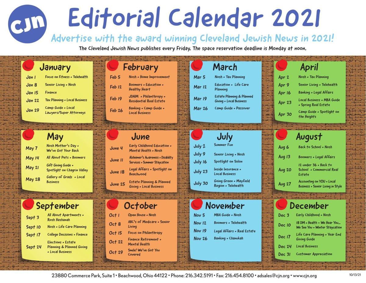 2021 Editorial Calendar