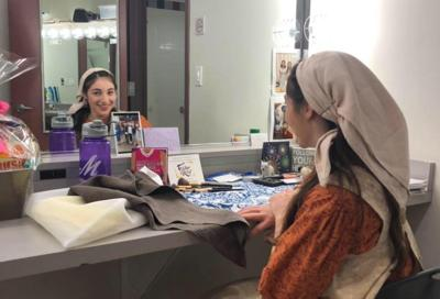 """Carly Post on the road in """"Fiddler on the Roof."""""""
