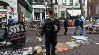 Anti-Israel protesters end rallies at Amsterdam's WWII memorial