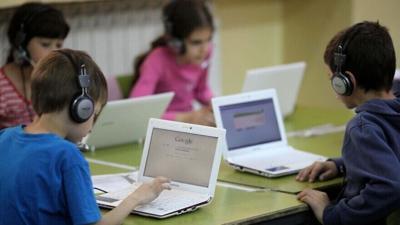 Schoolchildren in Jerusalem.