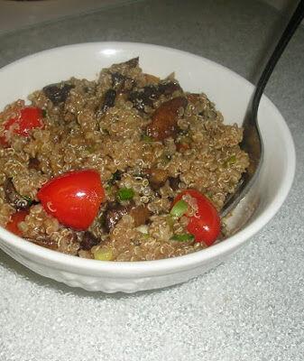 Mushroom, Tomato and Quinoa Salad