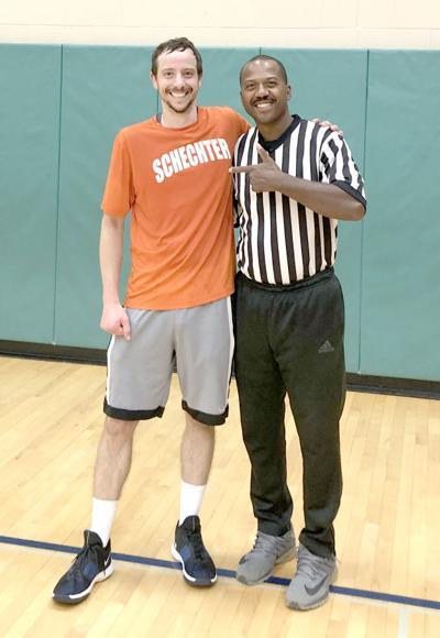 Jay Davis with referee James Miller