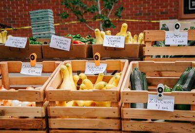 stock farmers market squash