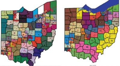 The GOP majority's initial proposed redistricting maps.