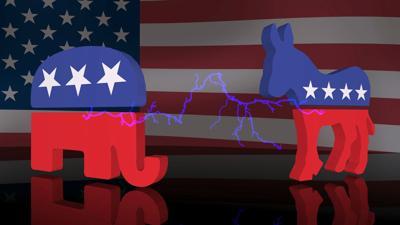 stock Republican Democrat politics