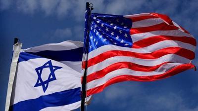 Israel U.S. flags