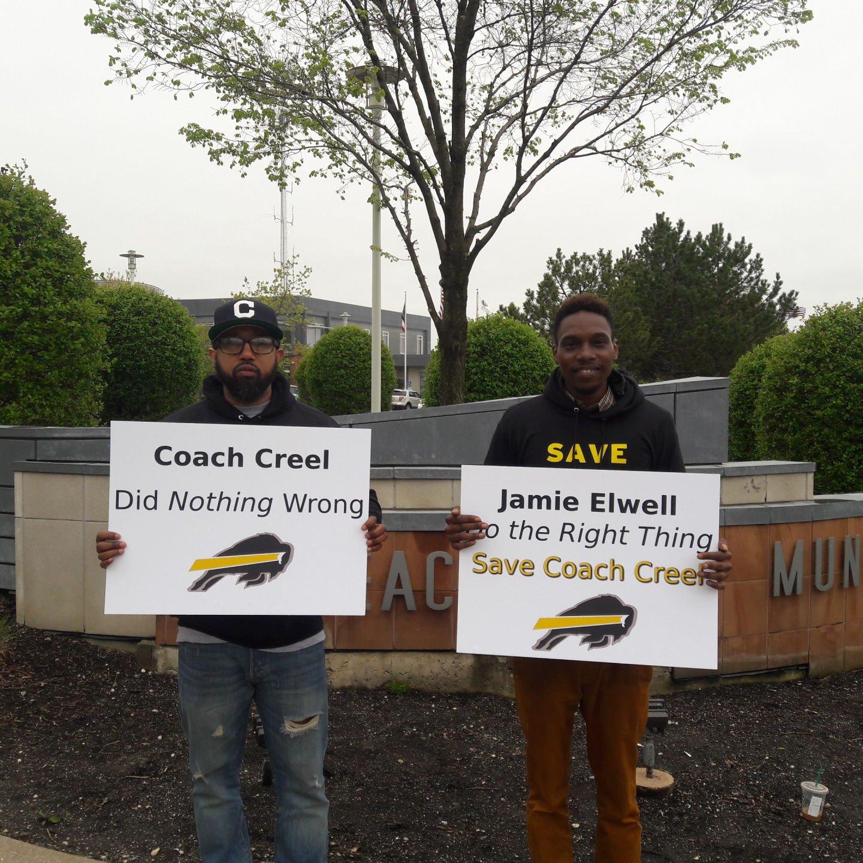 Creel protestors signs