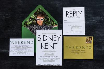 Invitations to Sidney Kent's bar mitzvah