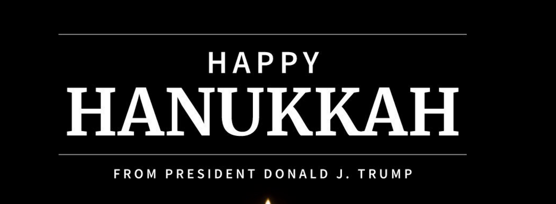 Trump pledges support for Jewish victims of hate in Chanukah message