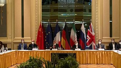 The Joint Commission of the Joint Comprehensive Plan of Action meeting in Vienna on April 20, 2021.