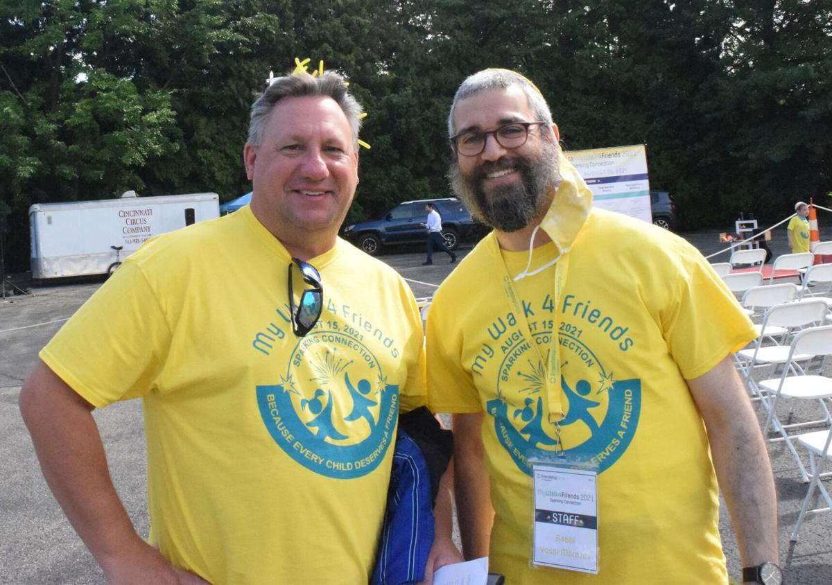 Andy Baskin, left, and Rabbi Yossi Marozov