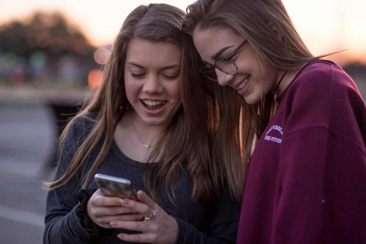 stock teens phone cellphone
