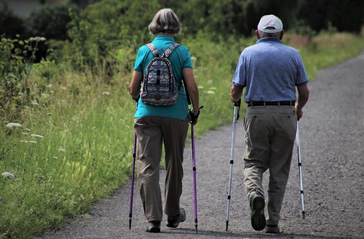 Stock senior living health walk