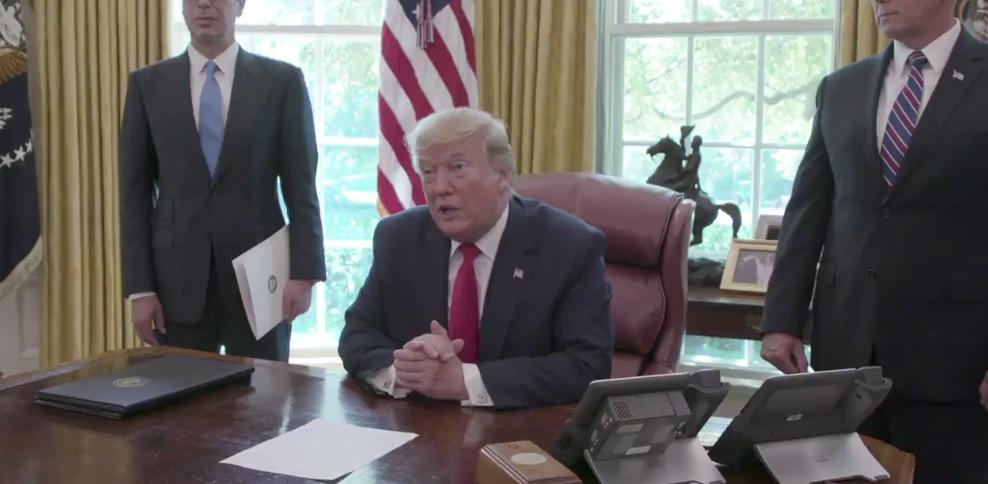 Trump signs executive order imposing 'hard-hitting' sanctions on Iran