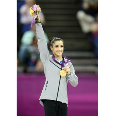 Aly Raisman with her Gold Medal