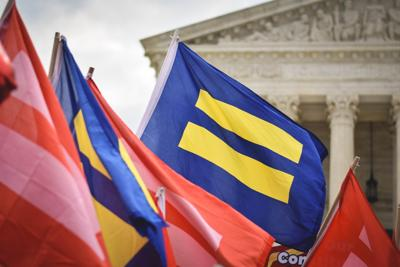 Stock lgbtq equal rights flag