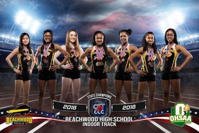 Beachwood girls indoor track team