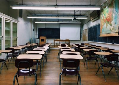 Stock empty classroom