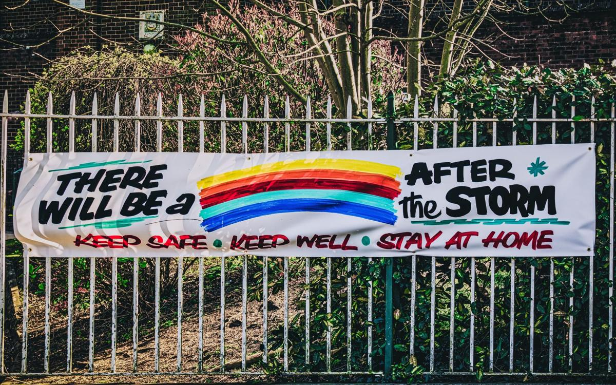 stock stay home rainbow