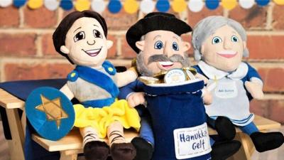 "The stuff ""mensch"" toys bring a Hanukkah message"