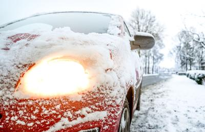 stock winter car snow