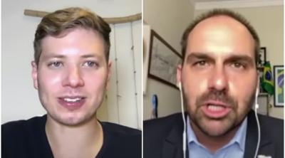 In his podcast debut, Yair Netanyahu interviews son of Brazil's Jair Bolsonaro