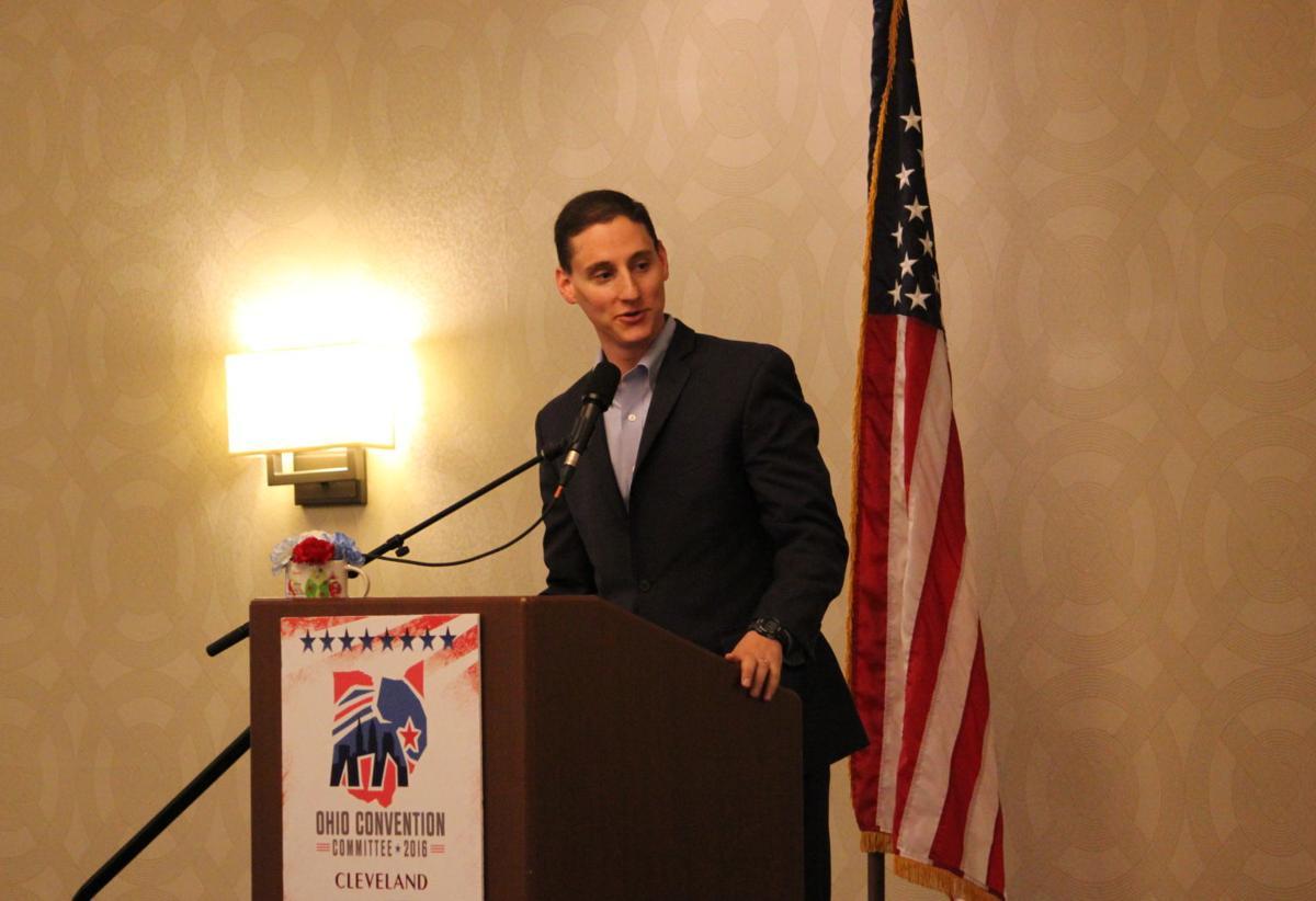 Josh Mandel at the podium