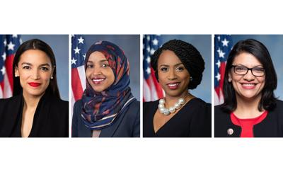 Alexandria Ocasio-Cortez, Ilhan Omar, Ayanna Pressley and Rashida Tlaib