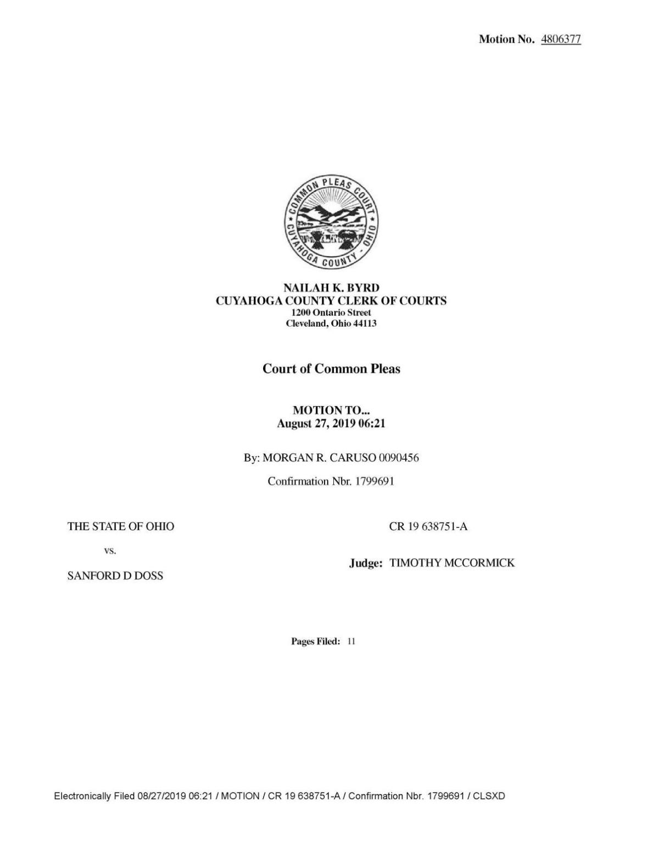 Sanford D. Doss Jr. supplemental motion