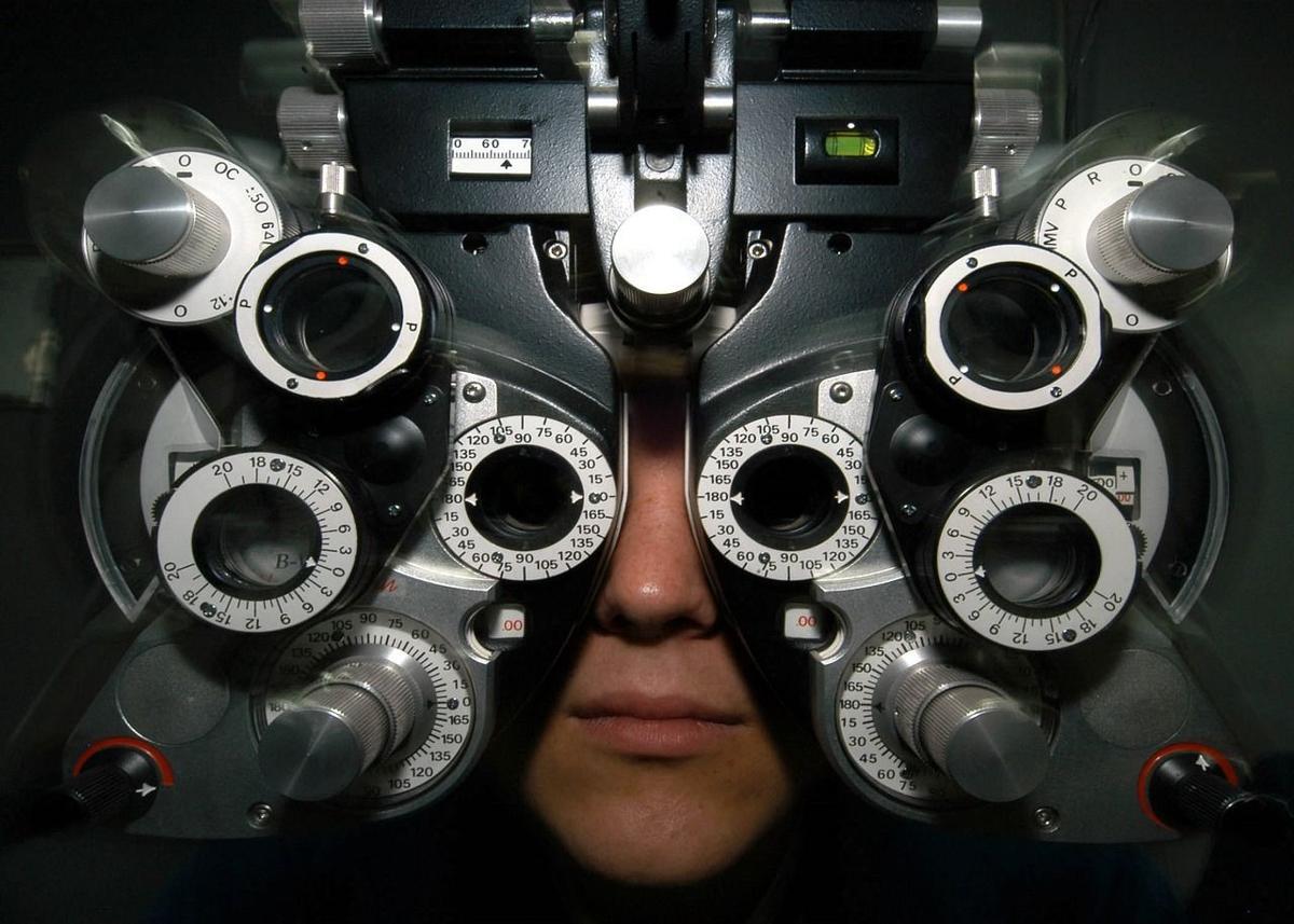 Stock eye exam