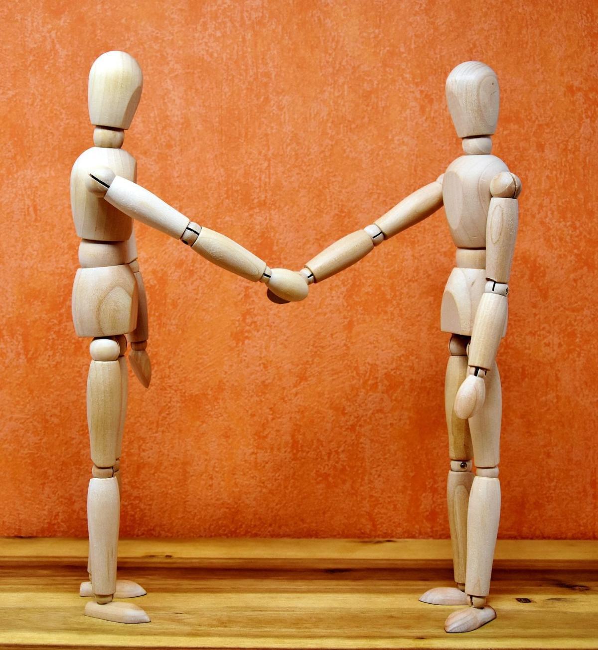 stock handshake