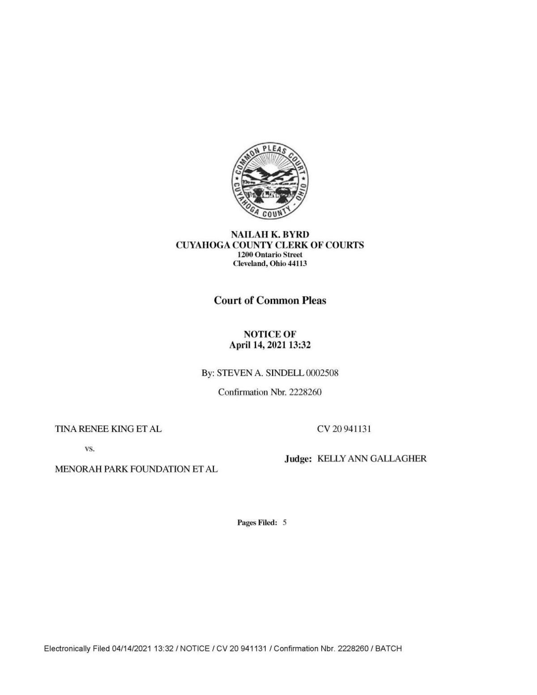Plaintiffs' notice of voluntary dismissal