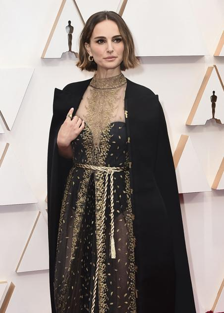 Natalie Portman dons cape with names of snubbed female directors