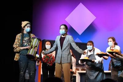 "The Solon High School drama club rehearses for ""Freaky Friday."""