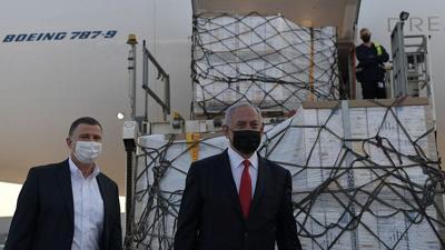 Israeli Prime Minister Benjamin Netanyahu and Health Minister Yuli Edelstein